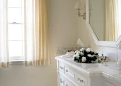 this image shows folsom silestone countertop vanity